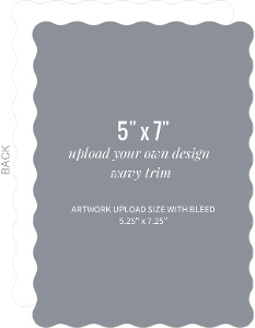 Upload Your Own Design 5x7 Wavy Card