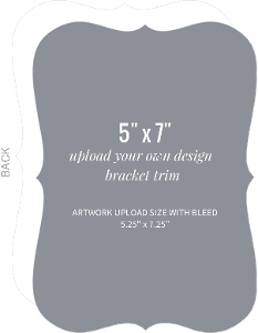 Upload Your Own Design 5x7 Bracket Card