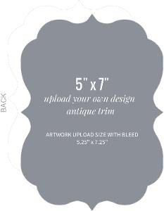 Upload Your Own Design 5x7 Antique Card