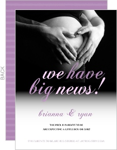 Baby Belly Pregnancy Announcement Card