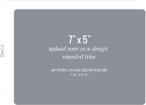 Upload Your Own Design 7x5 Rounded Card