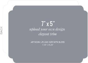 Upload Your Own Design 7x5 Elegant Card