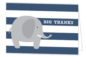 Big Thanks Elephant Card