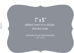 Upload Your Own Design 7x5 Bracket Card