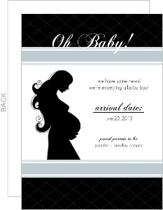 Oh Baby Black Pregnancy Announcement