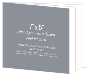 Upload Your Own Design 7x5 Booklet Card