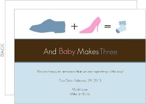 Shoes Silhouettes Pregnancy Announcement