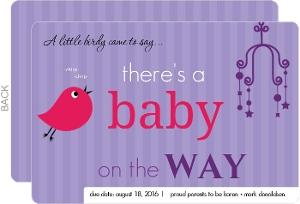 Little Birdie Purple Pregnancy Announcement