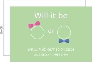 Pastel Baby Blue Stripes Pregnancy Announcement