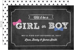 Chalkboard Girl or Boy Pregnancy Announcement