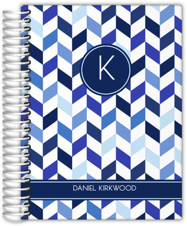 Shades of Blue Chevron Journal