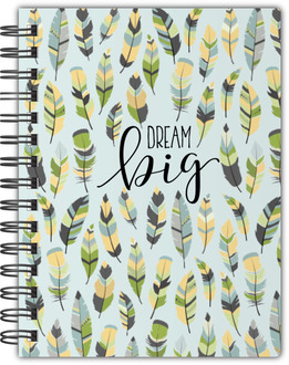 Green Feather Pattern Notebook