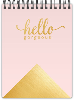 Faux Foil Gold Hello Gorgeous Notepad
