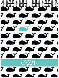 Modern Whale Monogram Notepad