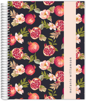 Pomegranate and Florals Journal