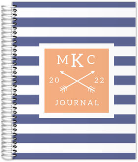 Modern Stripes Monogram Custom Journal