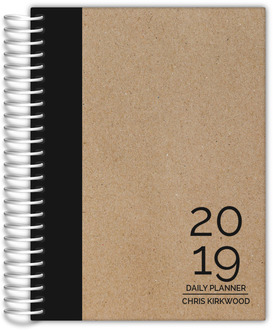Traditional Black And Kraft Planner