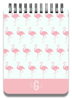 Pink Watercolor Flamingo Notepad