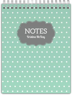Vintage Polka Dot Notepad