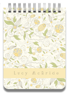 Whimsical Yellow Floral Notepad