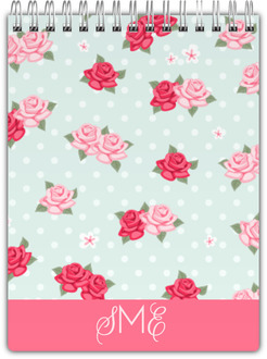 Vintage Rose Monogram Notepad