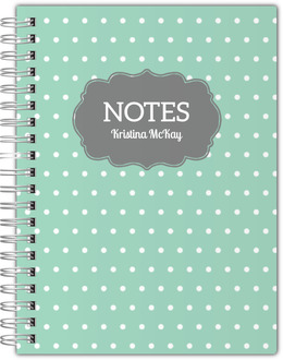 Vintage Polka Dot Notebook