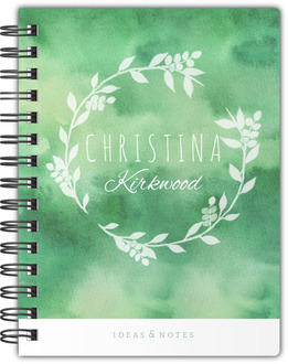 Greenery Watercolor Notebook