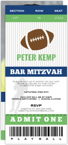 VIP Football Ticket Bar Mitzvah Invitation