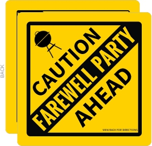 Caution Farewell Party Invitation