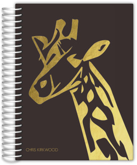 African Giraffe Silhouette Custom Journal