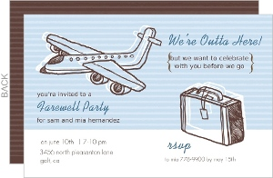Sketchy Airplanes Farewell Party Invite