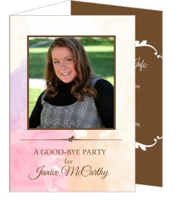 Watercolor Trifold Goodbye Party Invite