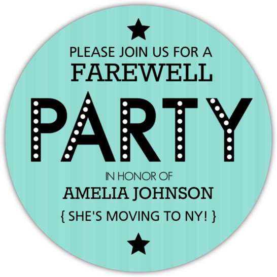 Going Away Party Invitations and Going Away Invitations – Goodbye Party Invitation