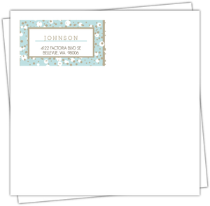 Snowy Blue Custom Envelope