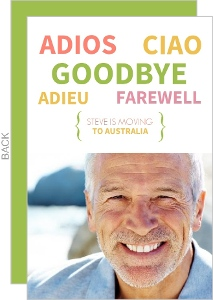 Green Modern Farewell Party Invitation