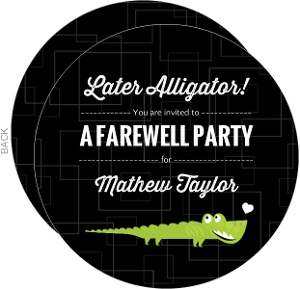 Later Alligator  Farewell Party Invitation