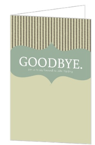 Goodbye Stripes Going Away Party Invitation