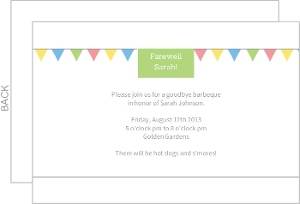 Farewell Flags Invitation