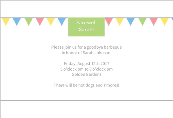 Farewell Flags Invitation | Going Away Party Invitations