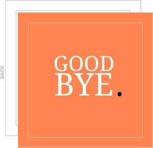 Orange Goodbye Going Away Card