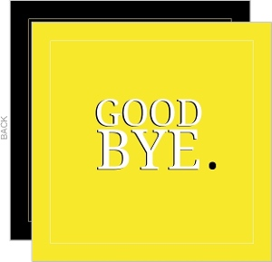 Yellow Goodbye Going Away Card