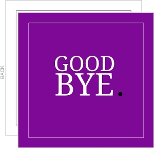 Purple Goodbye Going Away Card