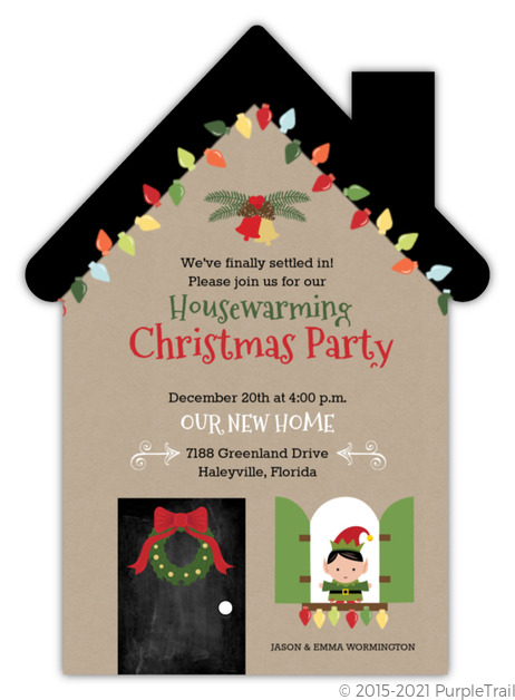 New home christmas party holiday invitation housewarming