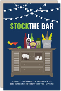 Stock The Bar Housewarming Party Invitation
