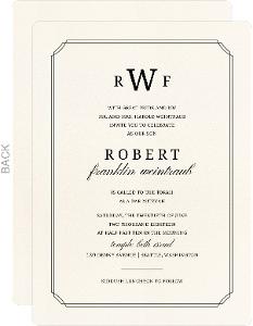 Formal Double Frame Bar Mitzvah Invitation