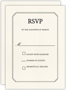 Formal Double Frame Bar Mitzvah Response Card