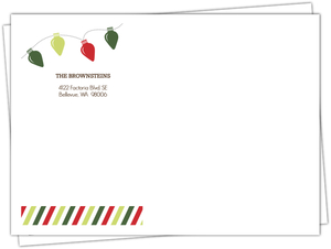 Festive Light Bulbs Custom Envelope