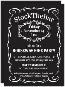 Vintage Stock The Bar Housewarming Party Invitation