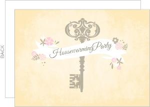 Antique Floral Banner Housewarming Invite