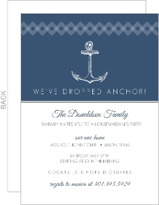 Navy Nautical Anchor Housewarming Invitation